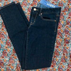 Gap 1969 Always Skinny dark wash jeans, 26/2r